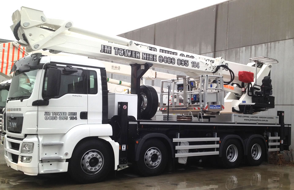 50 meter travel tower hire melbourne
